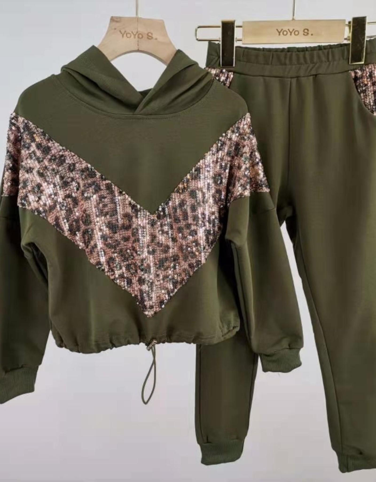 Divanis Divanis tracksuit armygreen panter