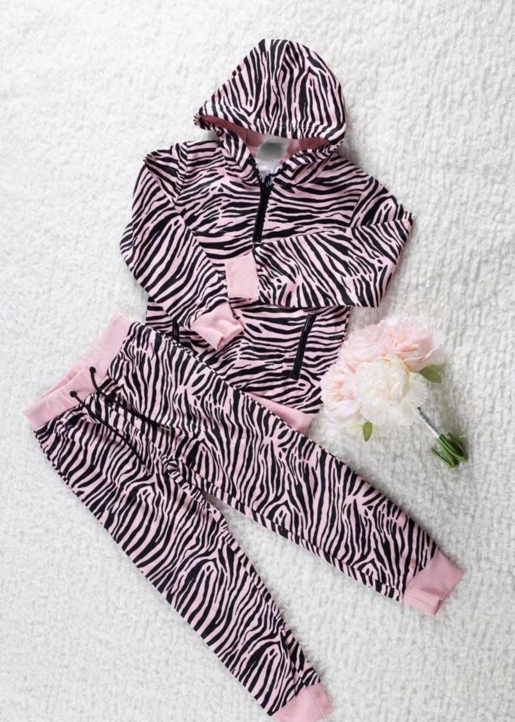 Divanis Divanis tracksuit zebra print roze