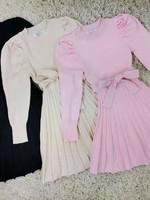 Divanis Divanis jurkje met geplooide rok roze