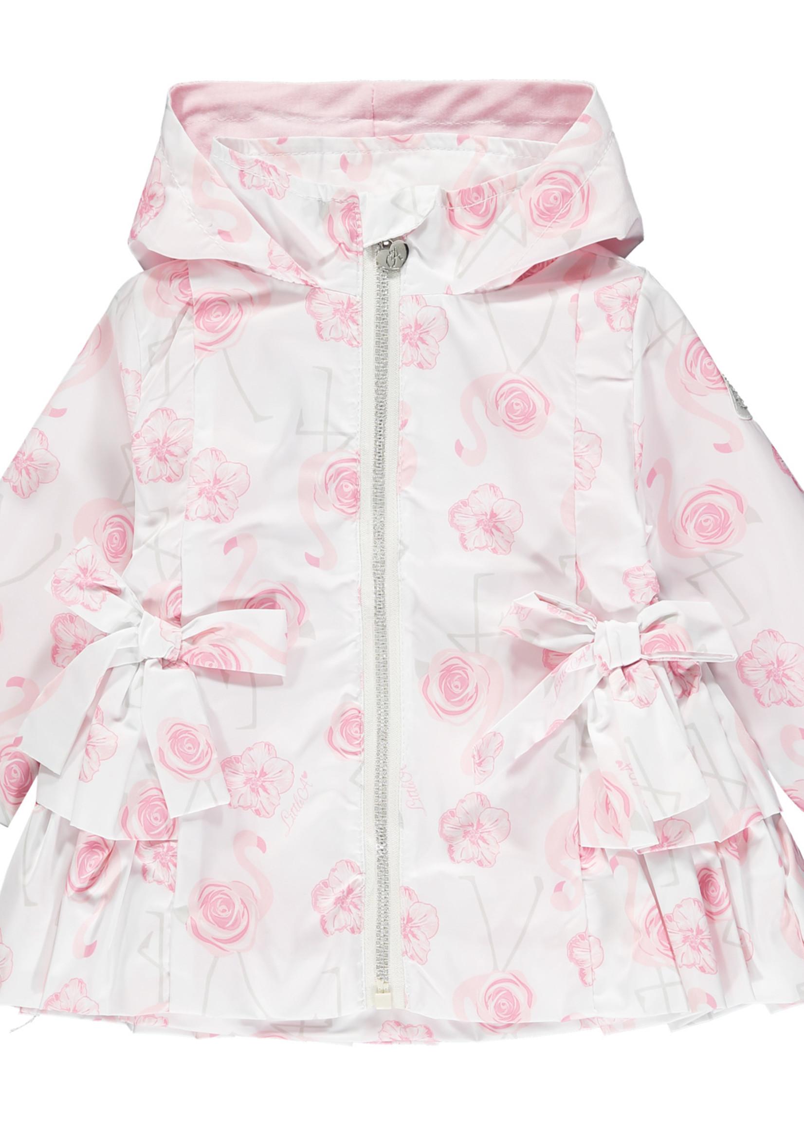 Little Adee Jaeda Flamingo print hooded jacket