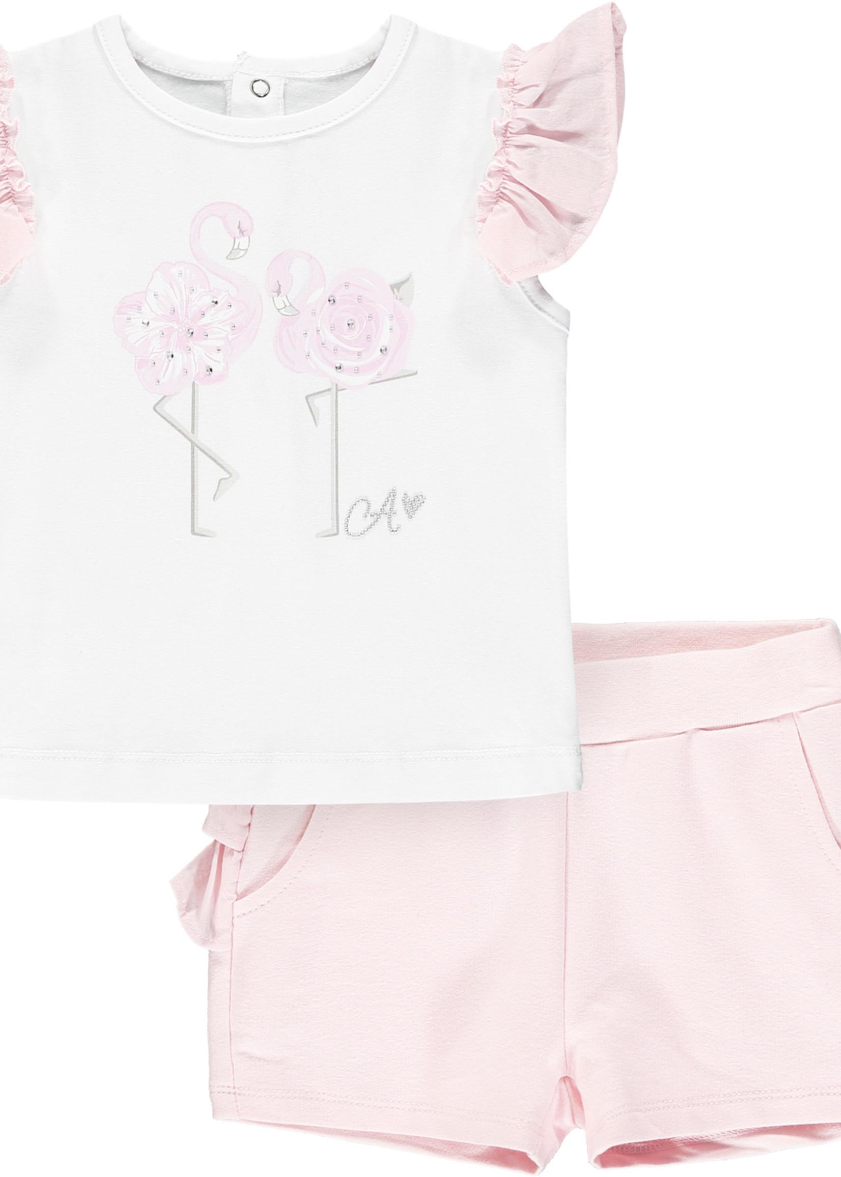 Little Adee Jagger Flamingo short set