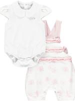 Little Adee Jacy Flamingo print dungaree set