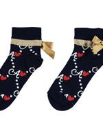A Dee Madeline Diamond print socks