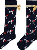 A Dee Madonna Diamond print knee socks