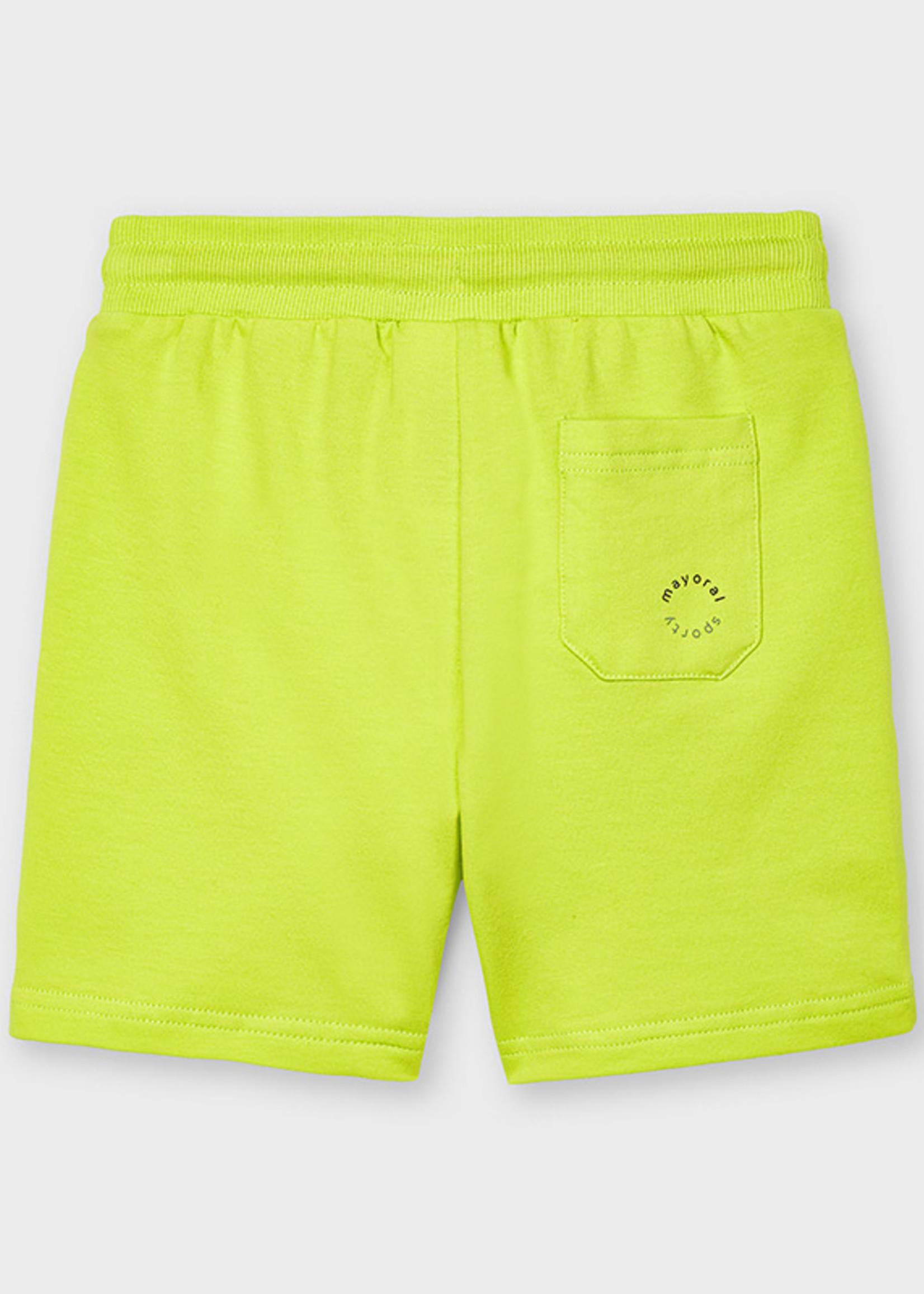 Mayoral Mayoral Basic fleece shorts green