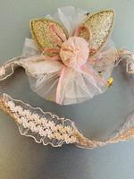 Divanis Divanis haarband glitter flower