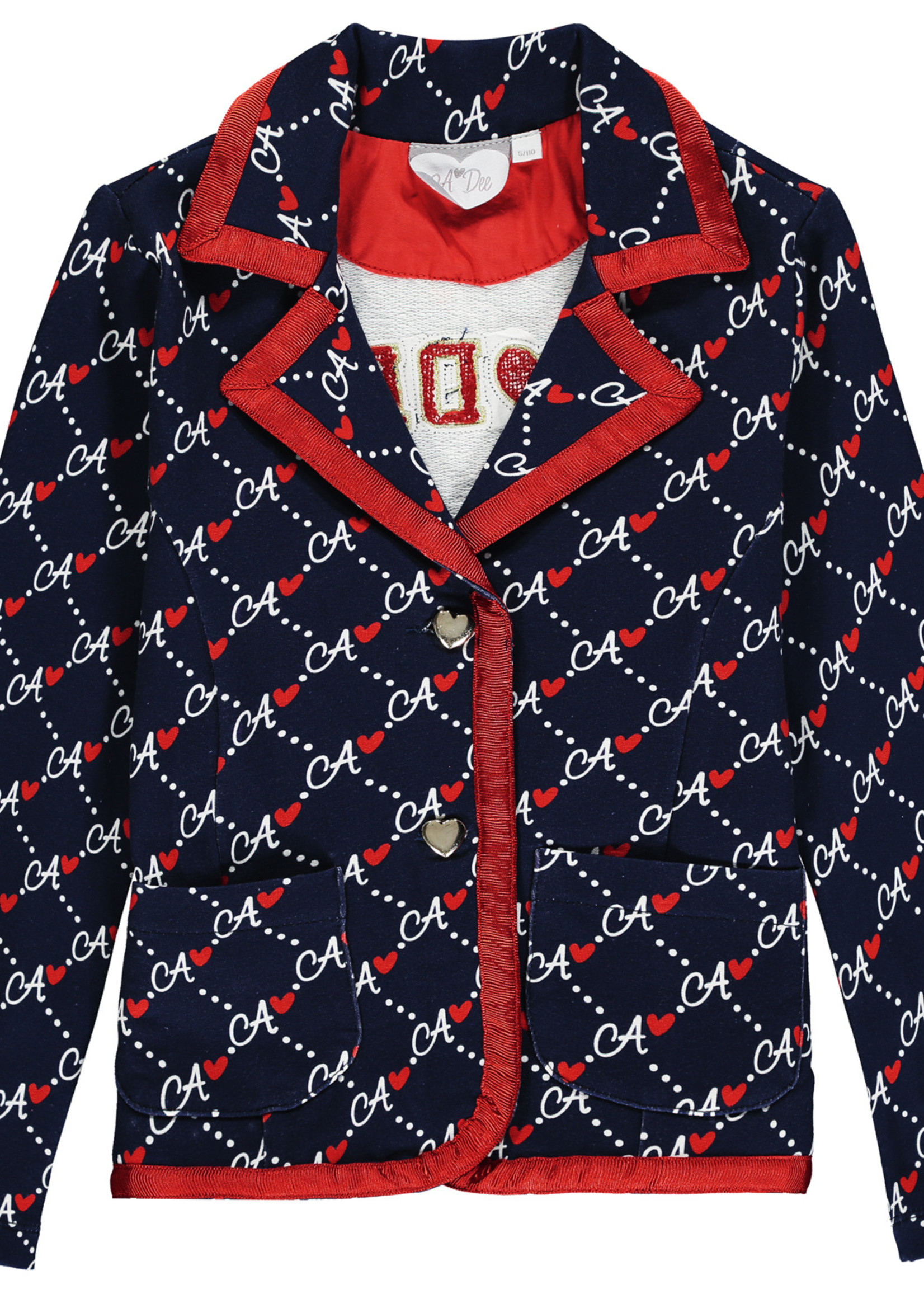 A Dee Maggy diamond print blazer