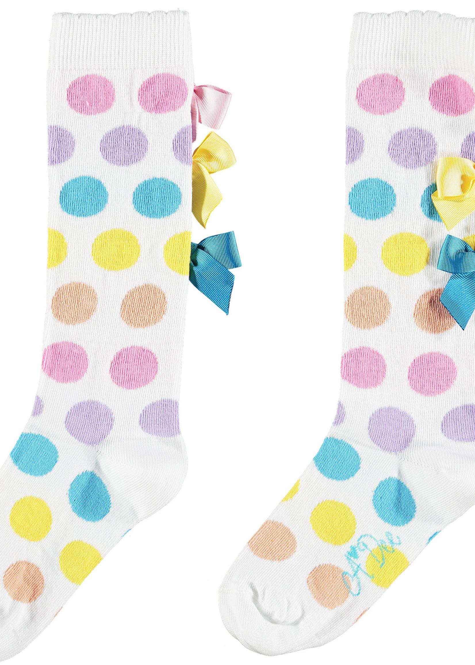 A Dee Nicoletta Rainbow knee high sock