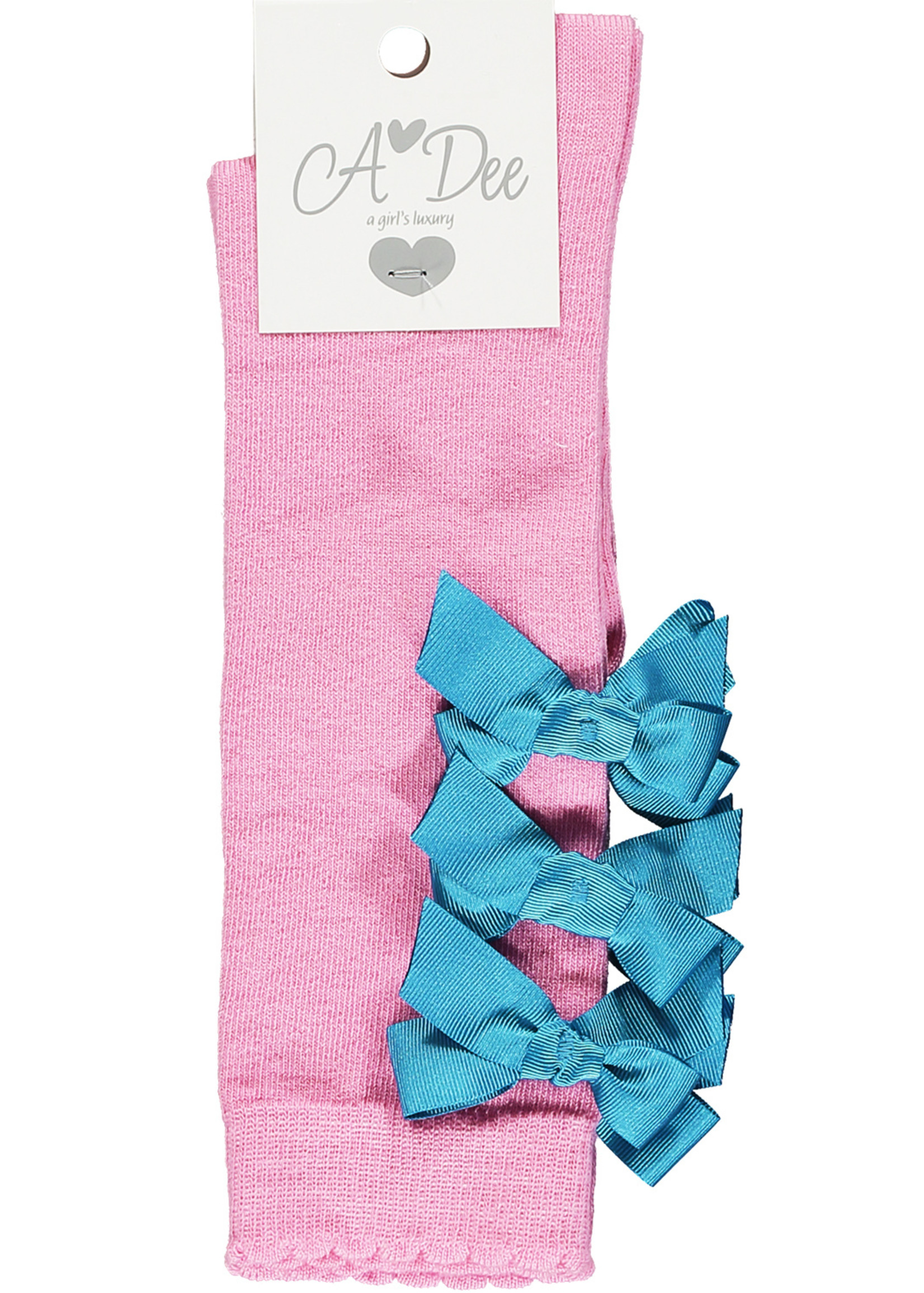 A Dee Nox knee high sock with bows