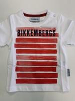 Bikkembergs Bikkembergs T-shirt White red stripes
