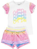 A Dee A.Dee Norma 2 piece set rainbow sequin shorts