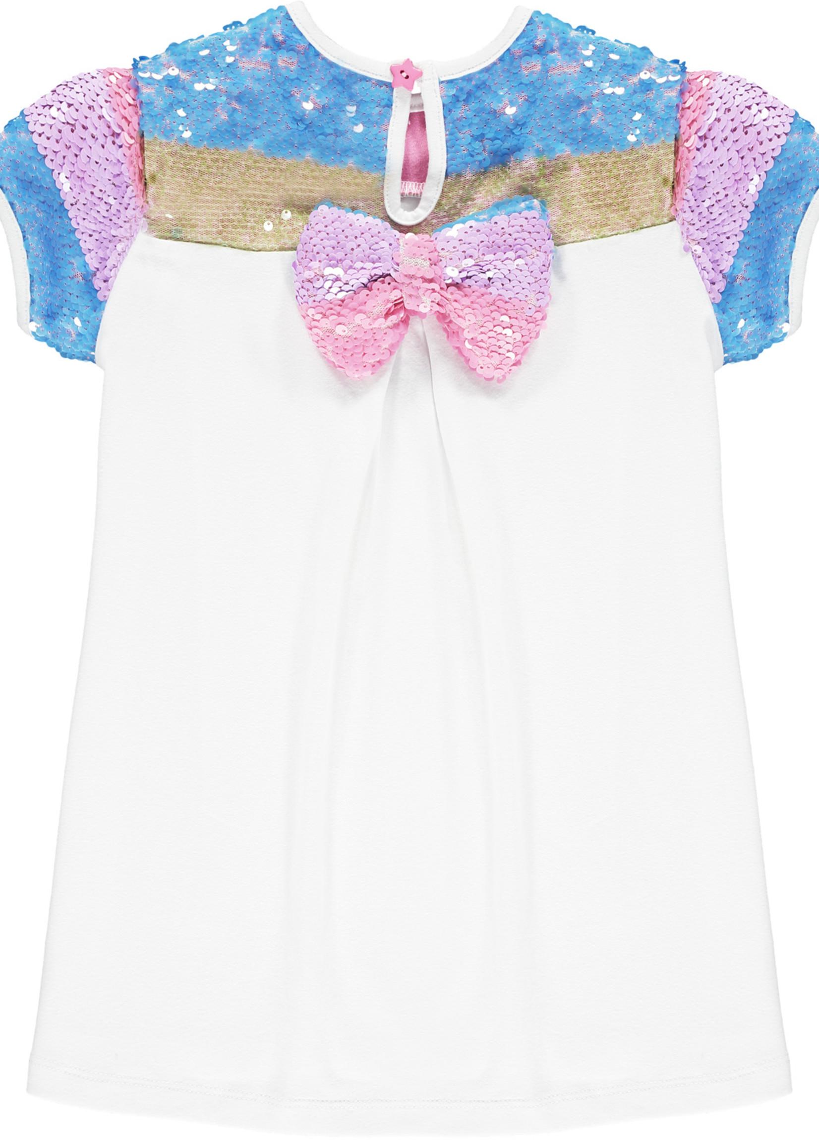 A Dee Nan set Rainbow sequin top
