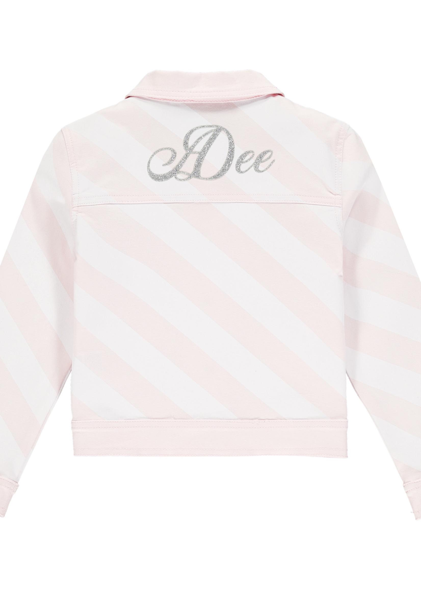 A Dee Orlagh stripe denim jacket