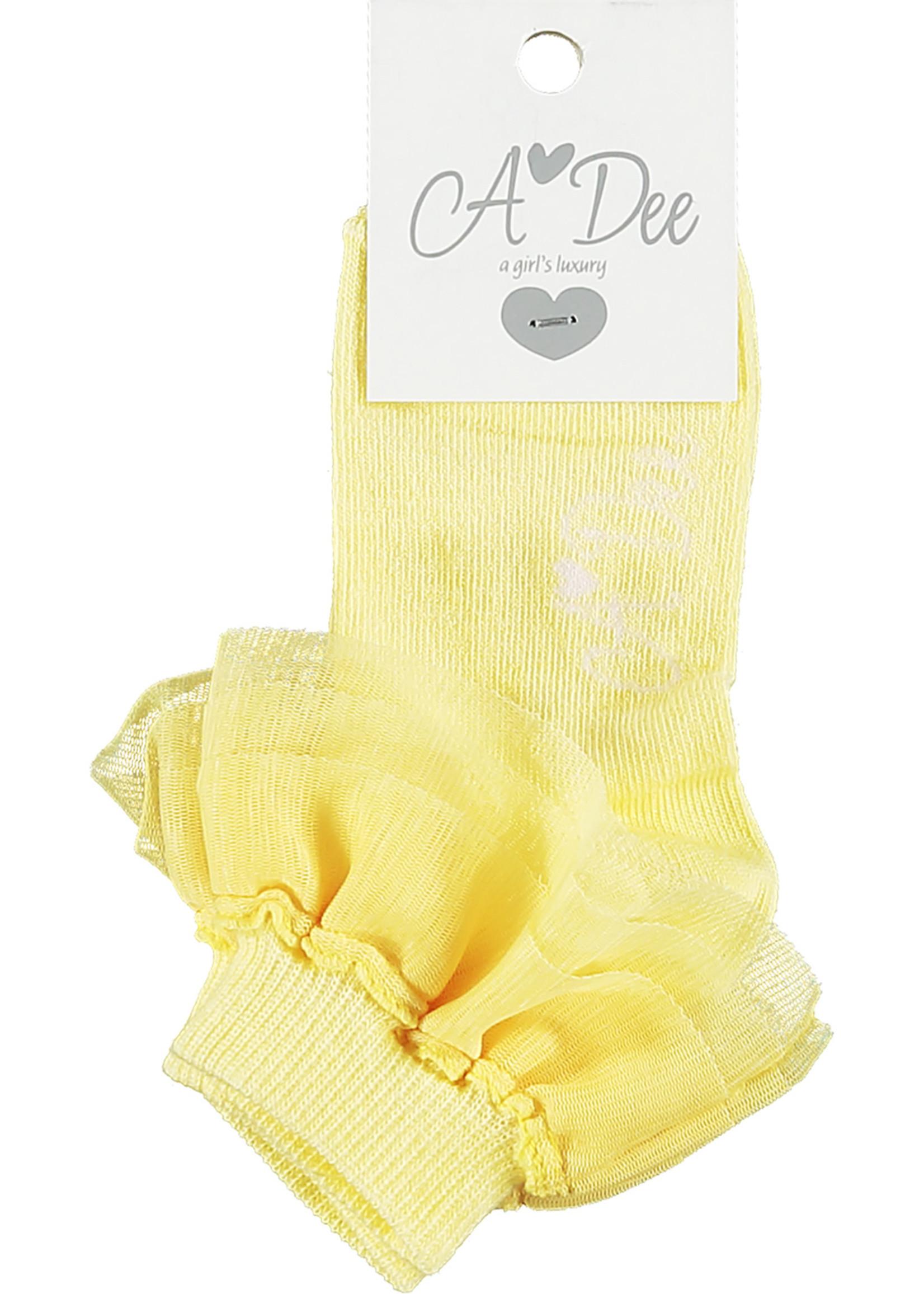 A Dee Osaka cotton ankle sock yellow