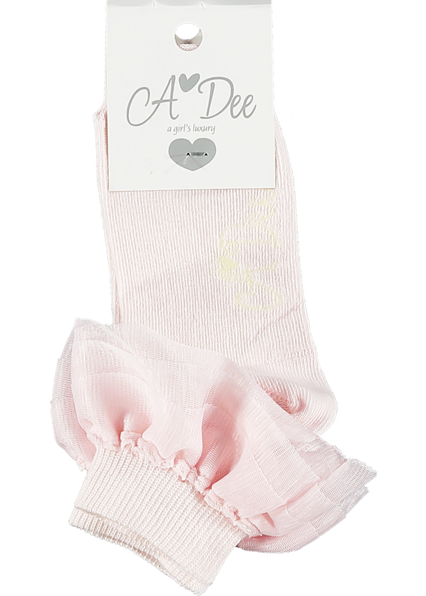 A Dee Osaka cotton ankle sock pink