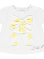 Little Adee Kadence Sunshine bow t shirt