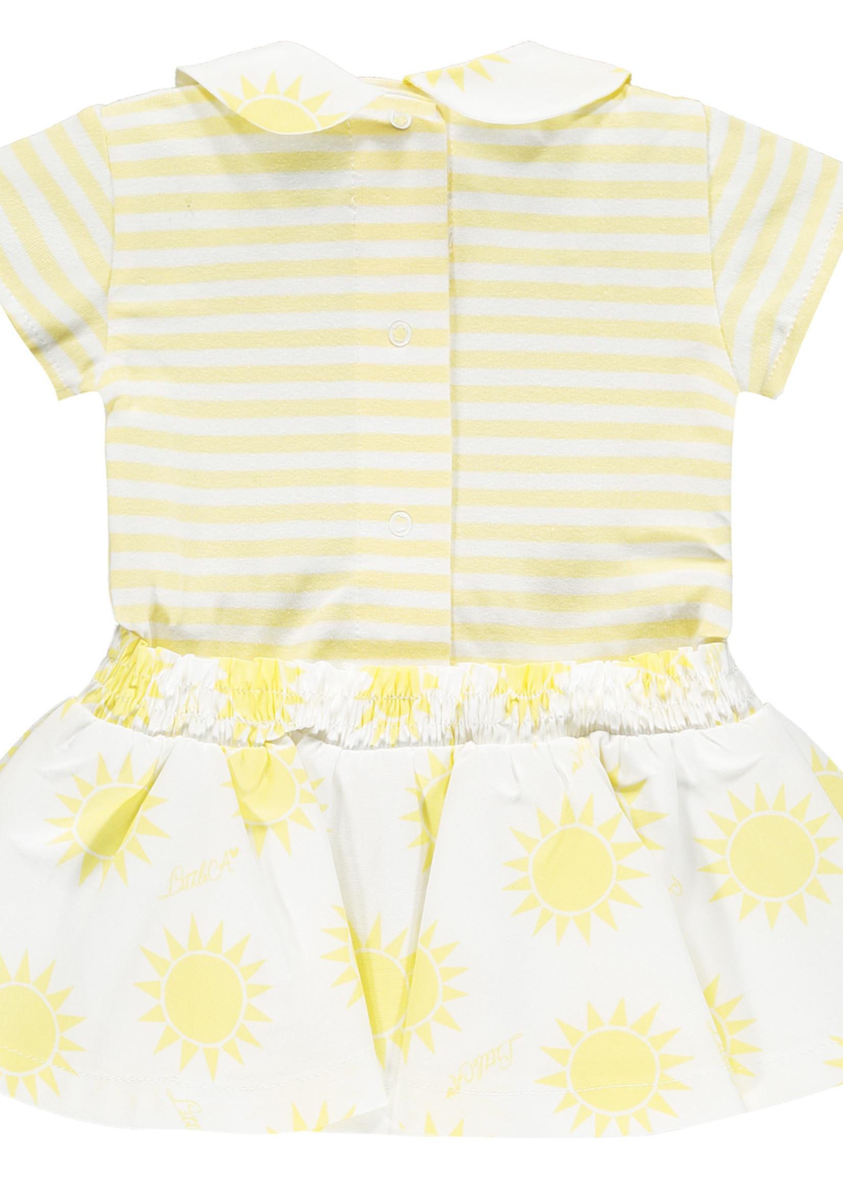 Little Adee Kara stripe sunshine dress