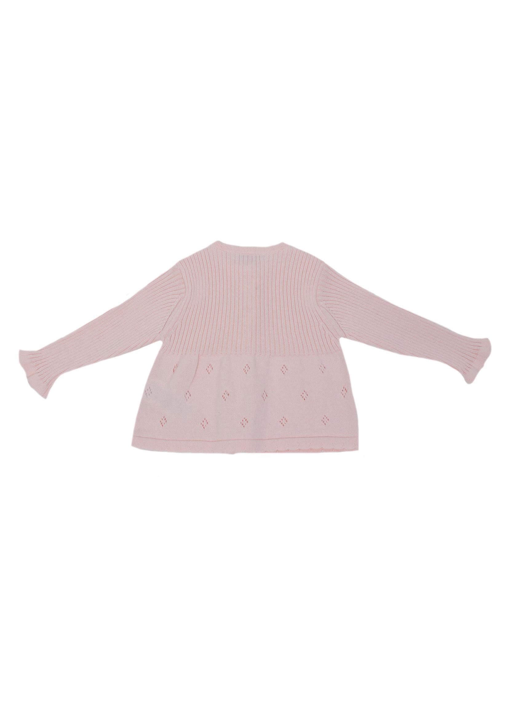DrKid Cardigan roze met strikje