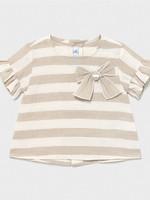 Mayoral Mayoral linen striped blouse