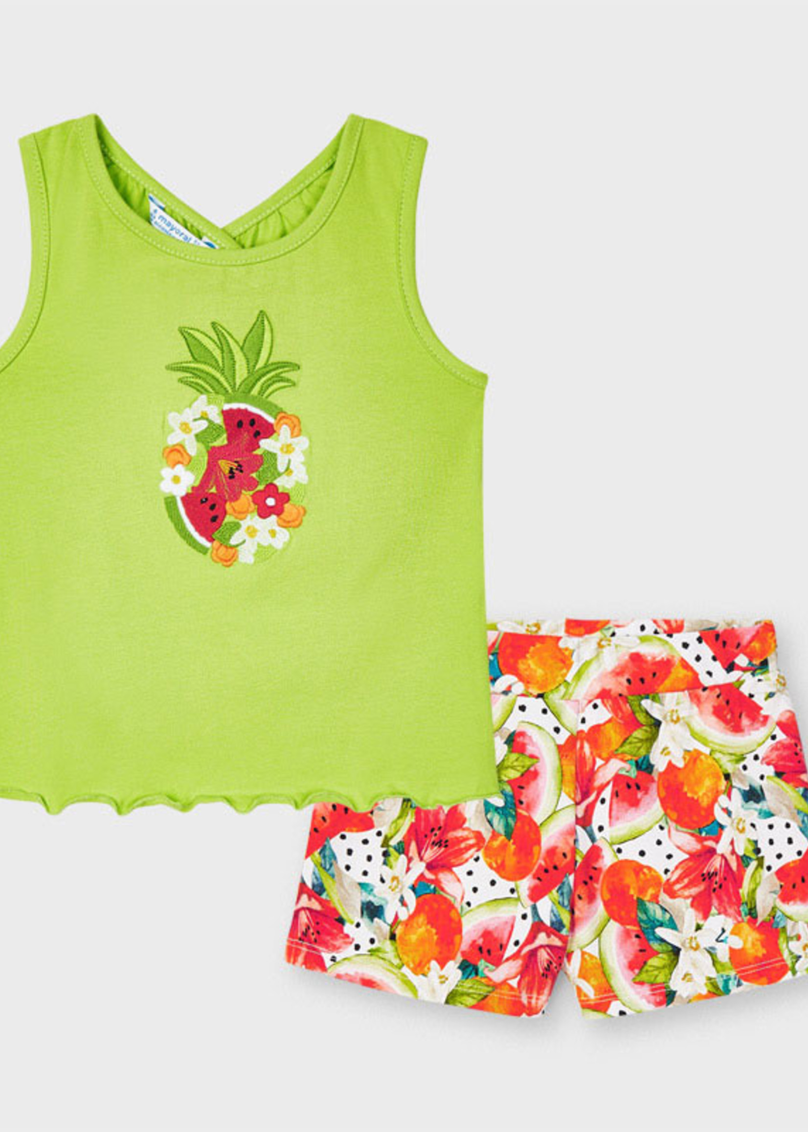 Mayoral Mayoral embroidery short set pineapple