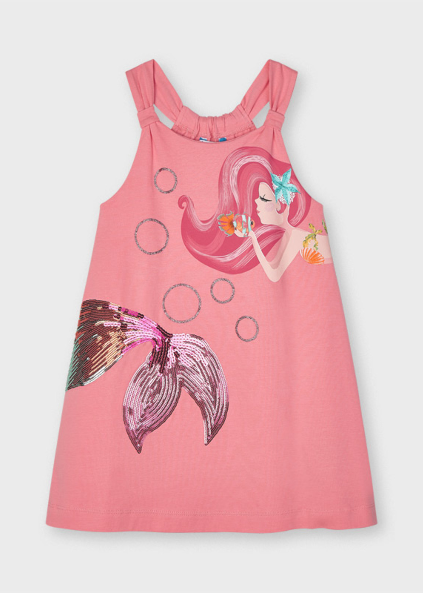 Mayoral Mayoral mermaid dress with graphic apliques