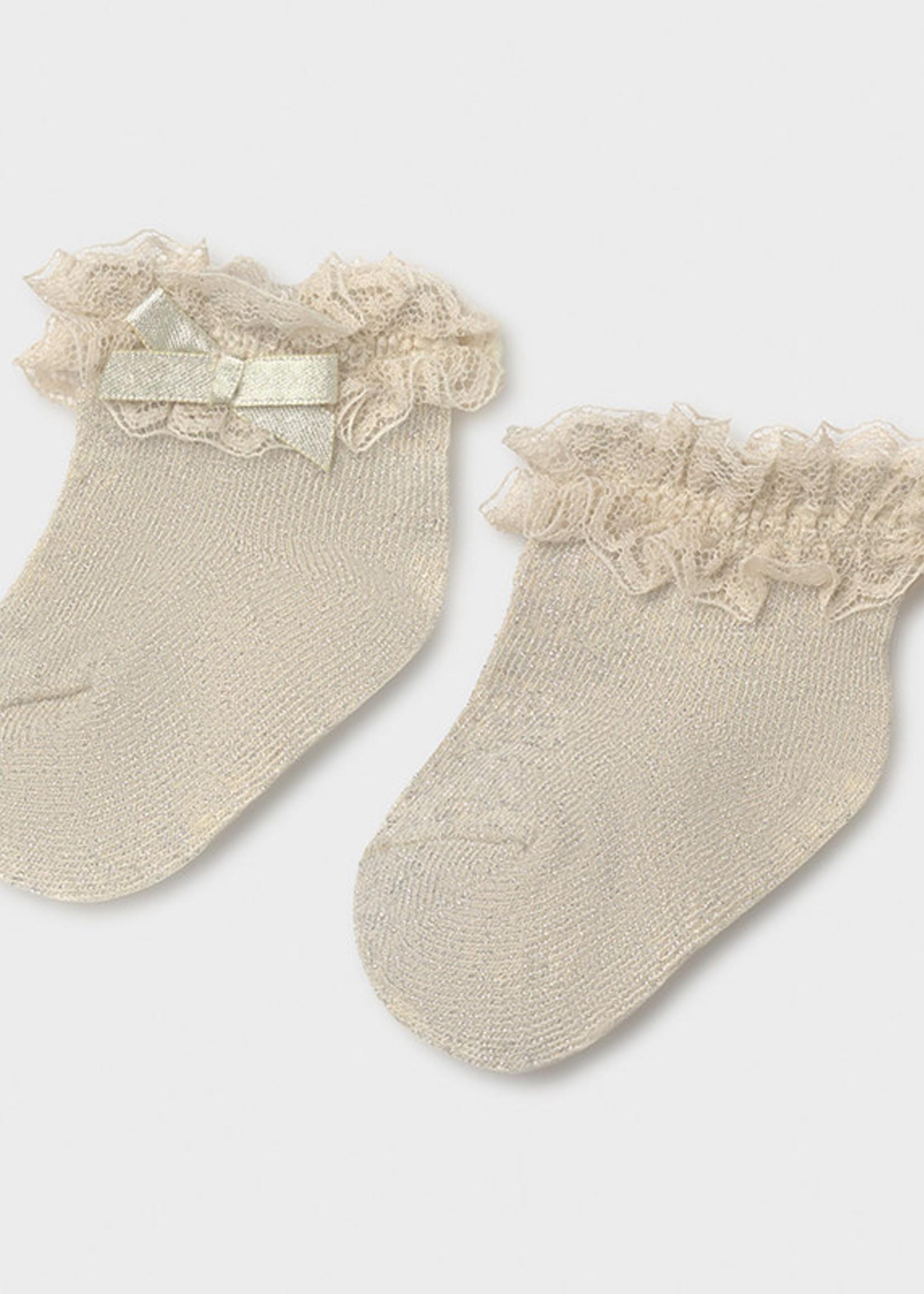 Mayoral Mayoral dressy socks beige lure