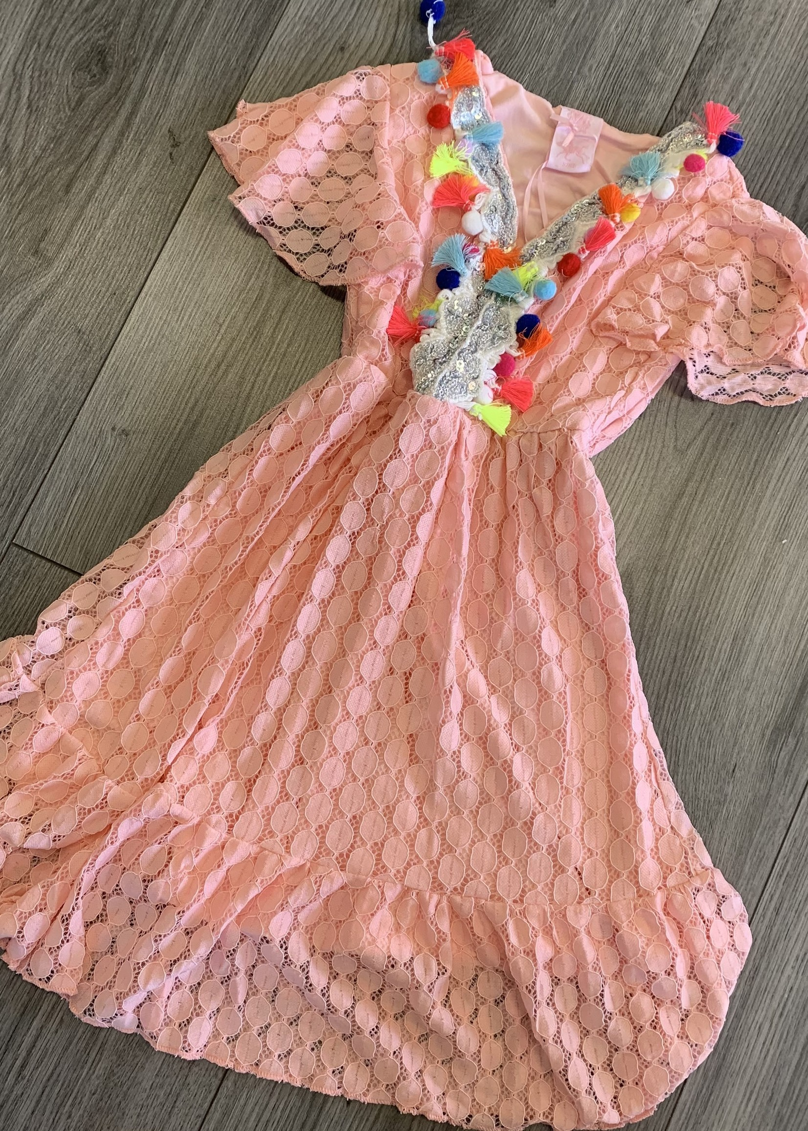 Zero Zero ibiza dress roze