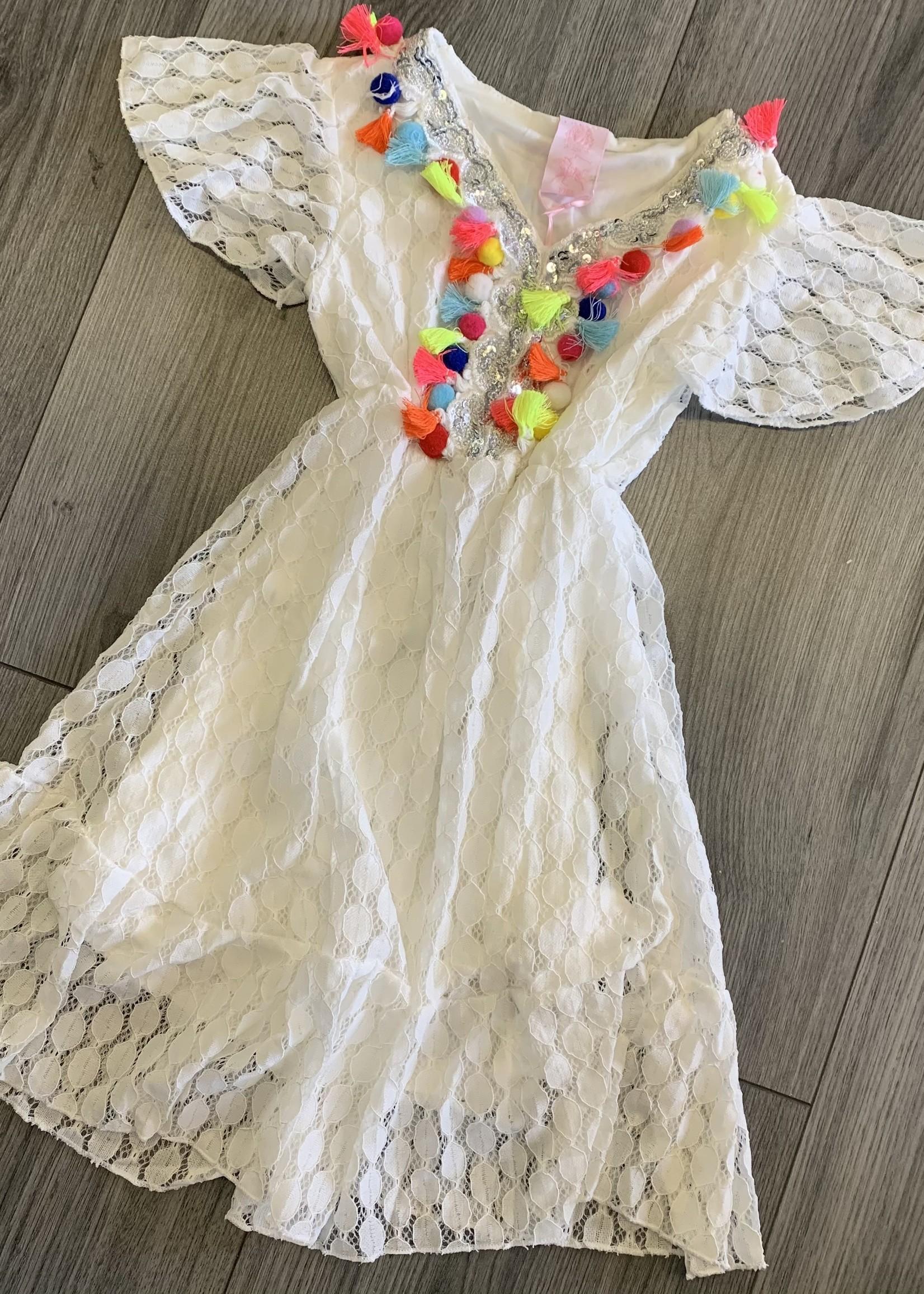 Zero Zero ibiza dress wit