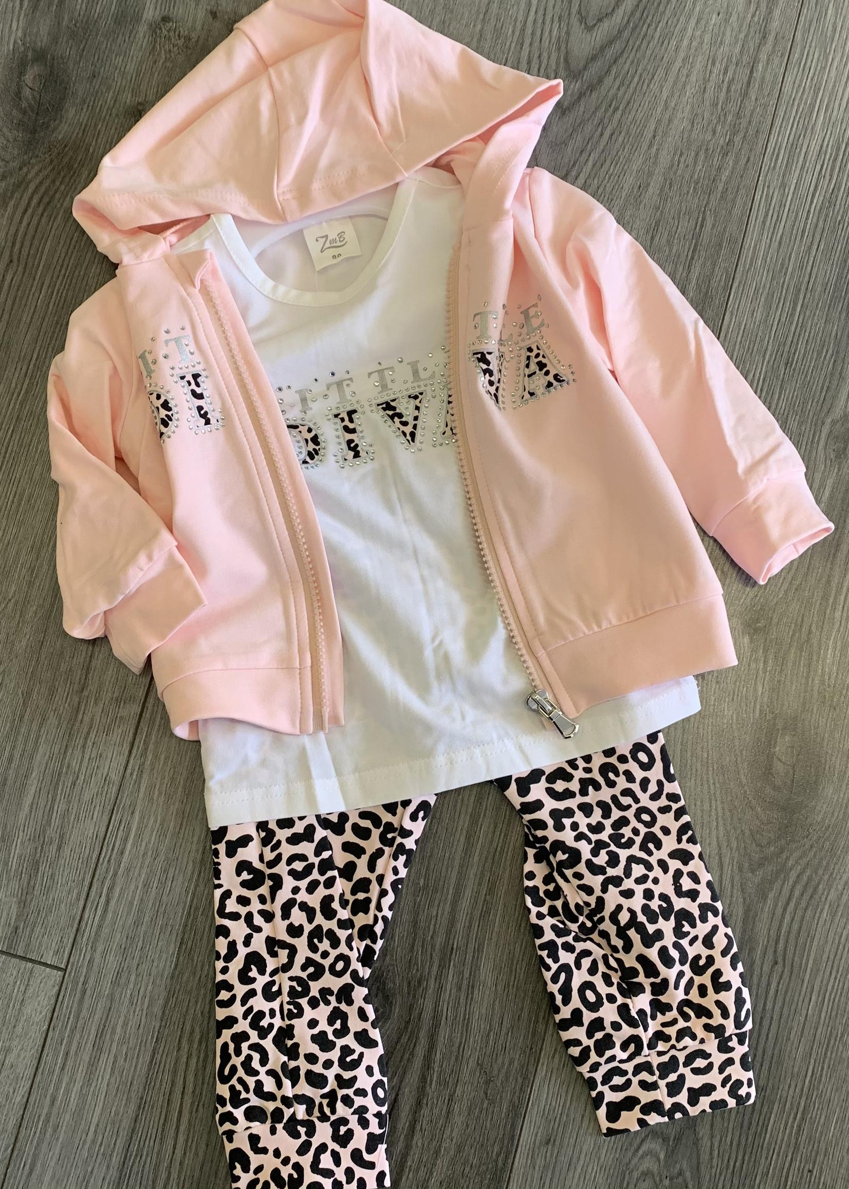 Zero Zero babyset little diva roze