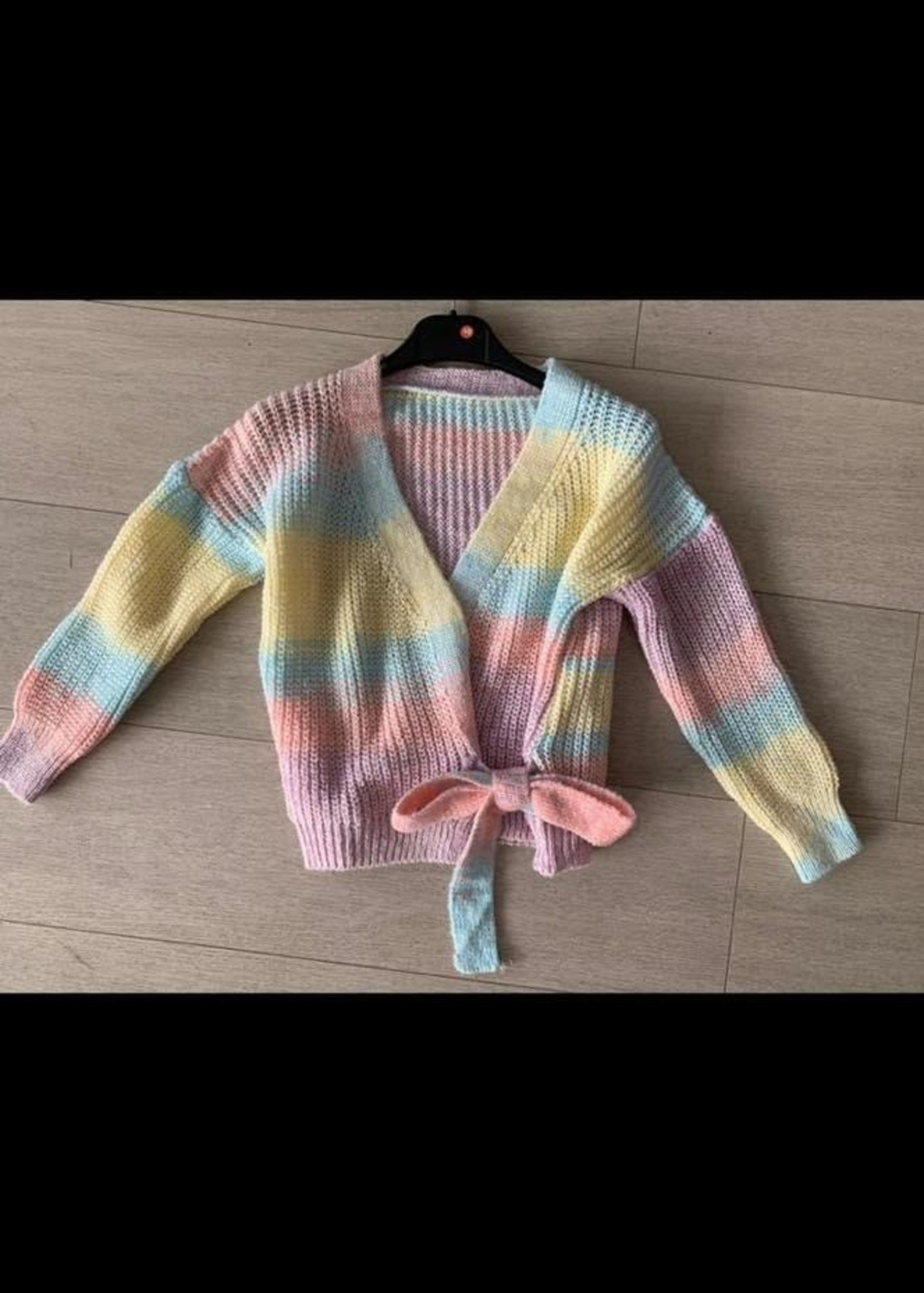 Divanis Divanis knoop sweater rainbow