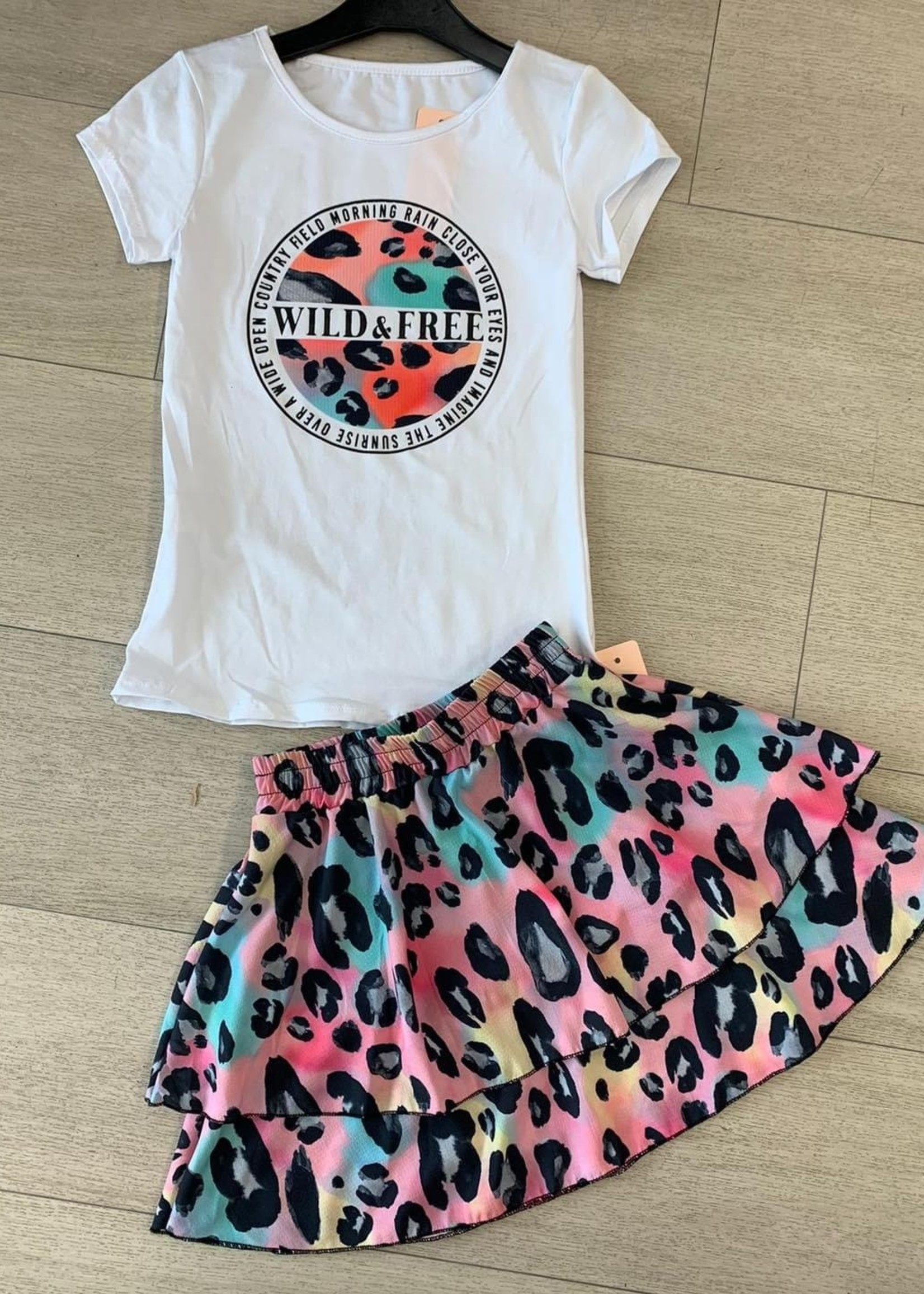 Divanis Divanis wild & free skirt set panter multi