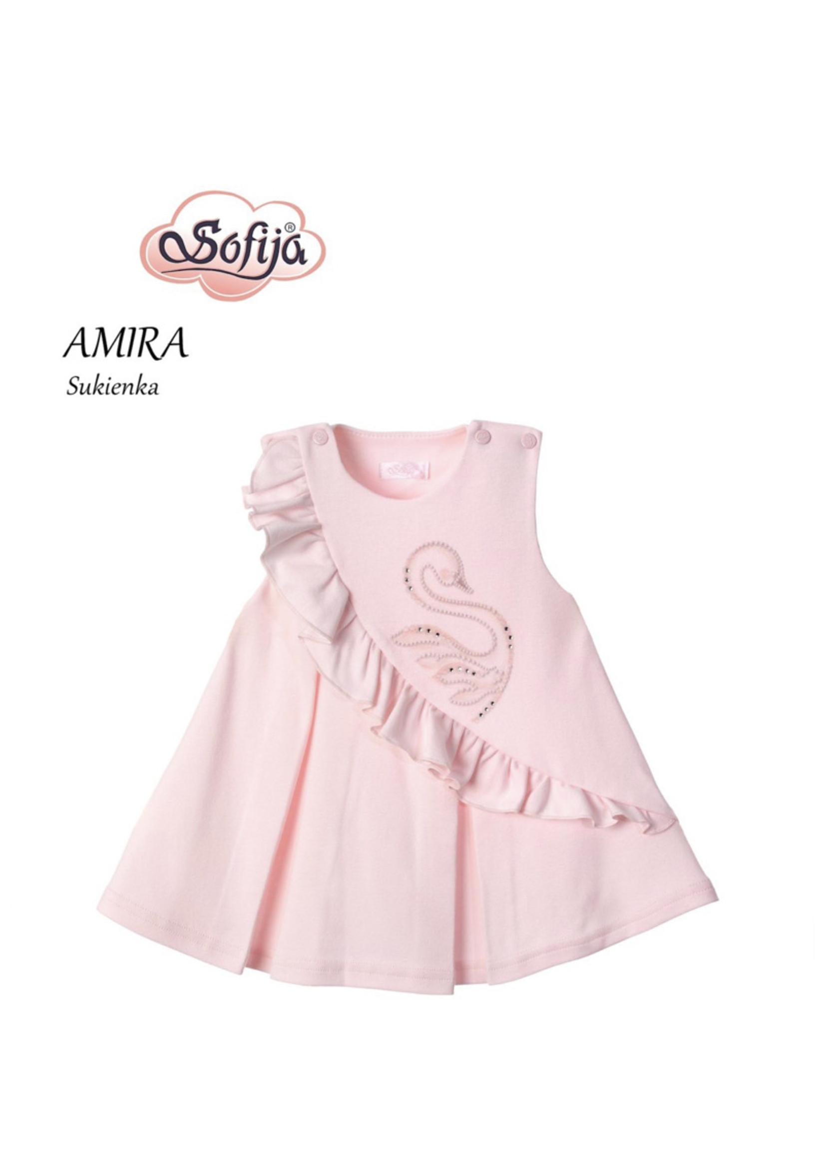Sofija Sofija zwanen dress roze