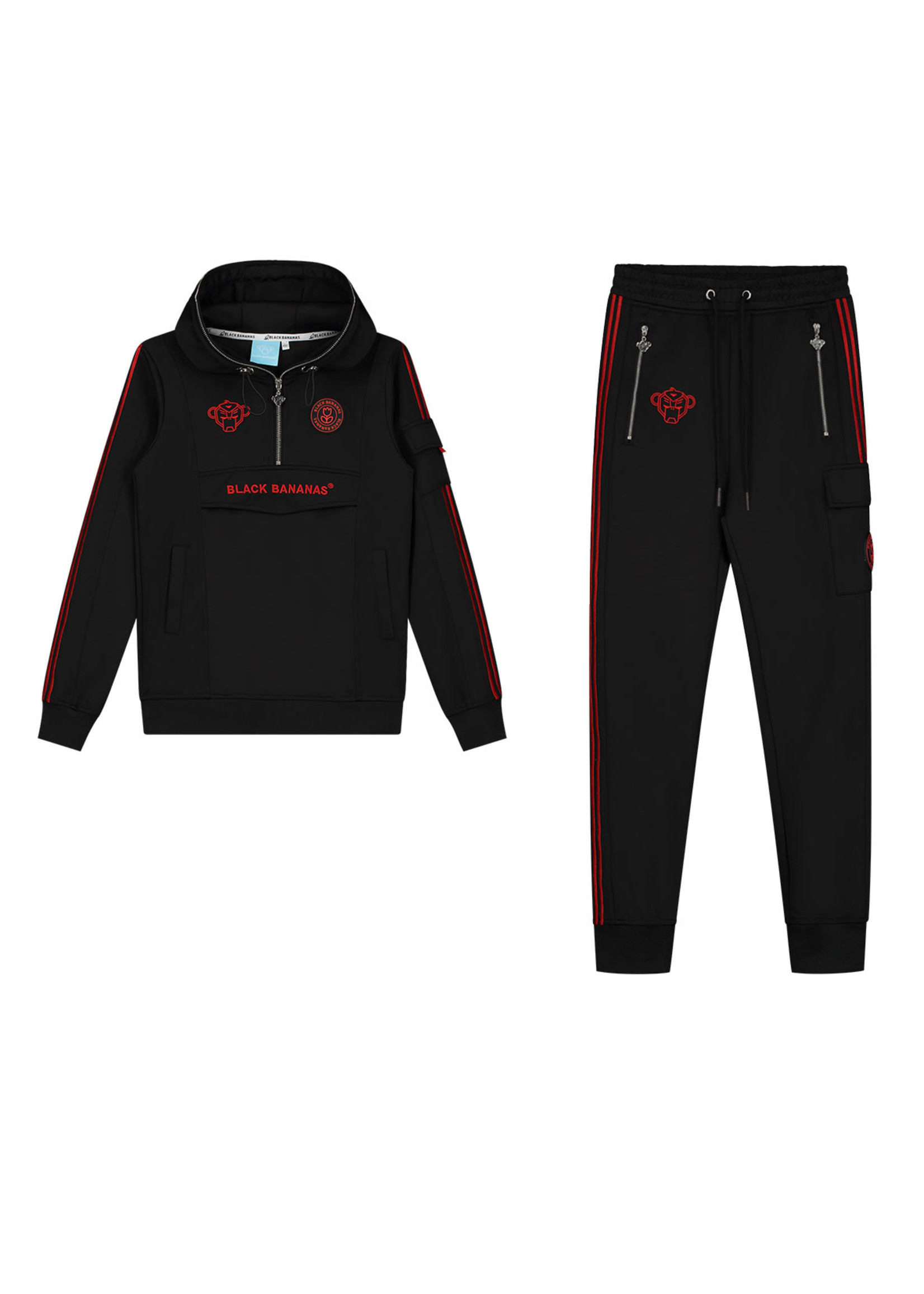 Black Bananas BlackBananas Jr. Unity Tracktop black red