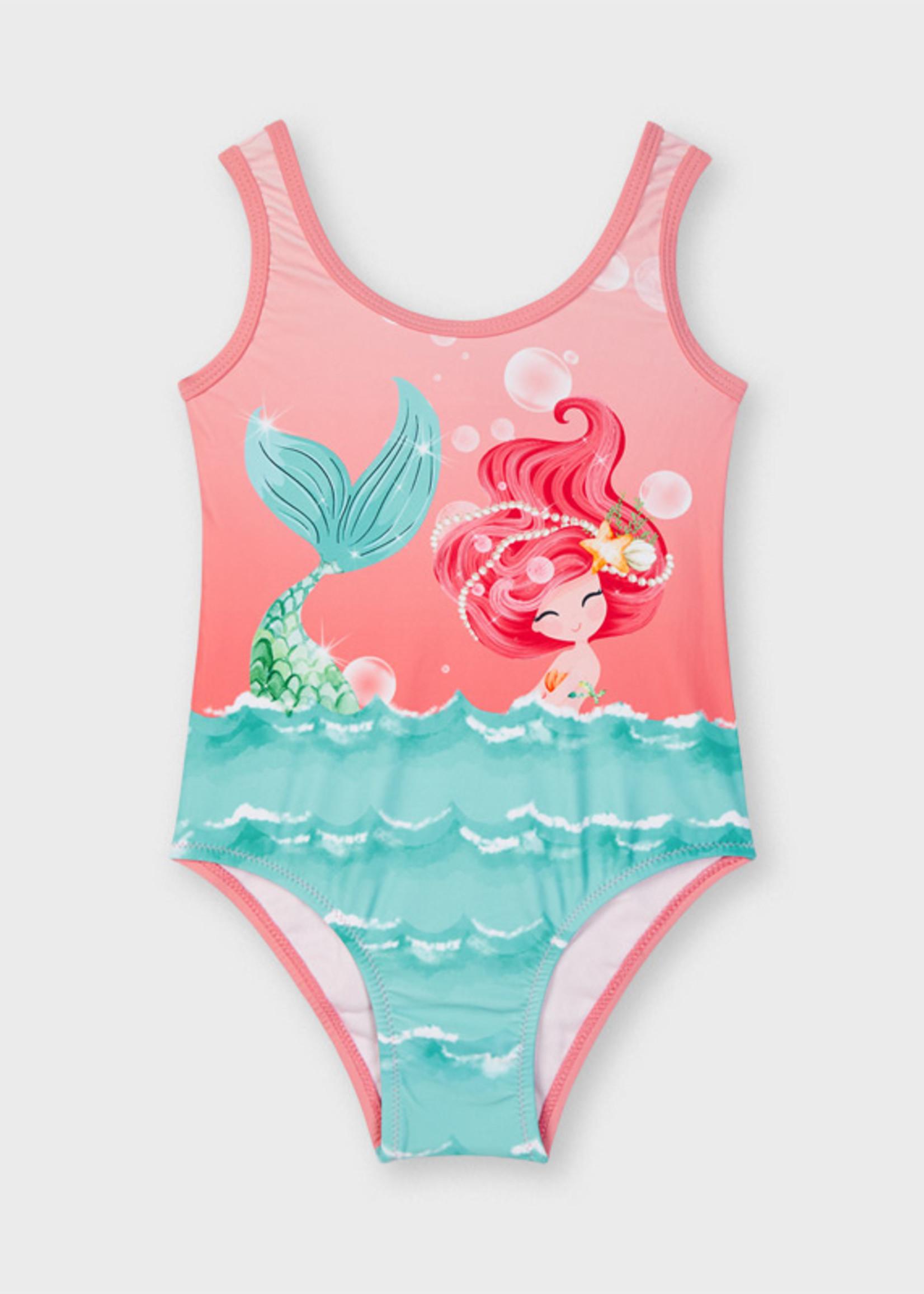 Mayoral Mayoral print swimsuit zeemeermin