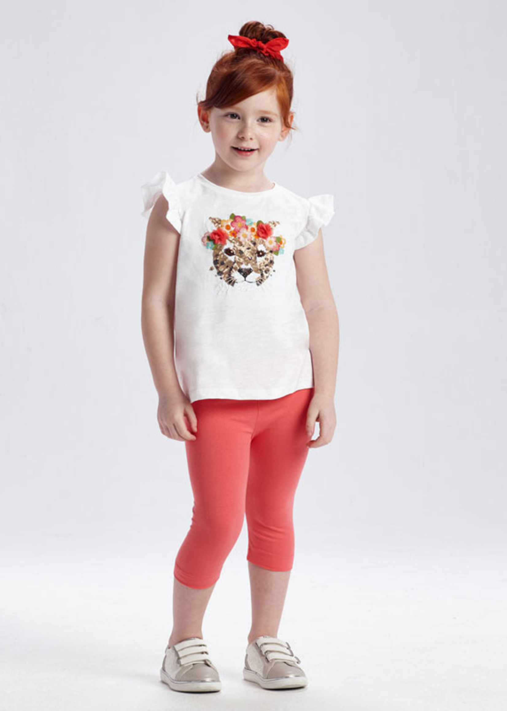 Mayoral Mayoral pant set leopard with sequin pirate