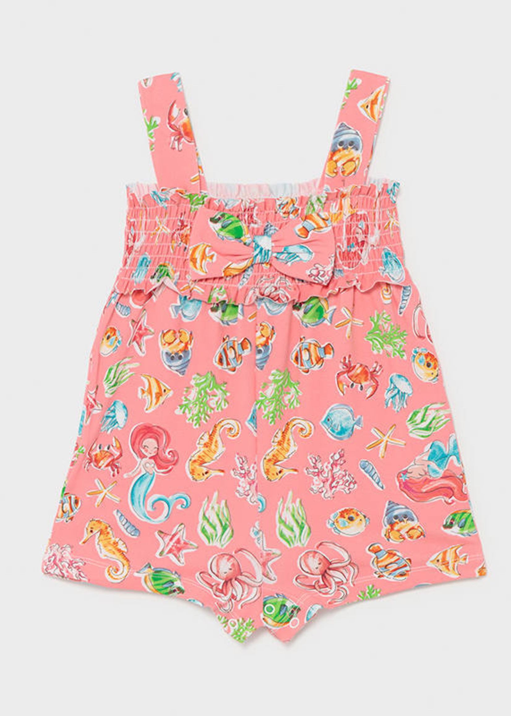 Mayoral Mayoral knit printed jumpsuit for baby girl