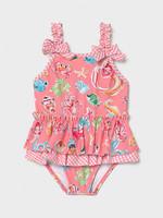 Mayoral Mayoral girl swimsuit ruffle flamingo