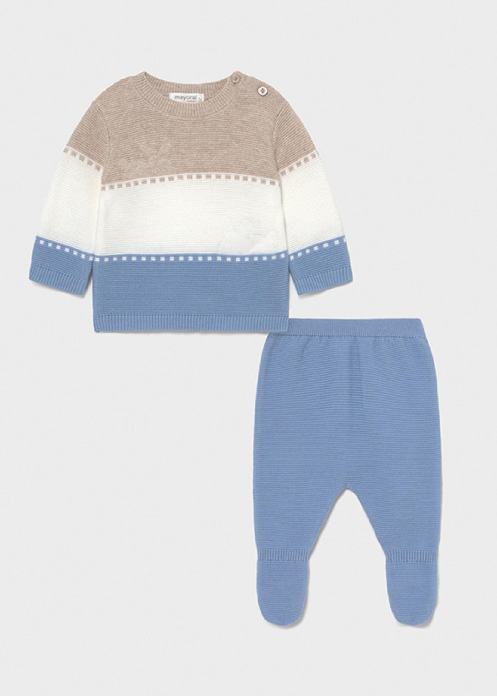 Mayoral Mayoral knit leg warmer set newborn boy
