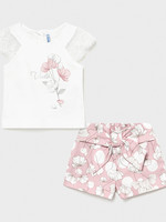 Mayoral Mayoral floral printed shorts set