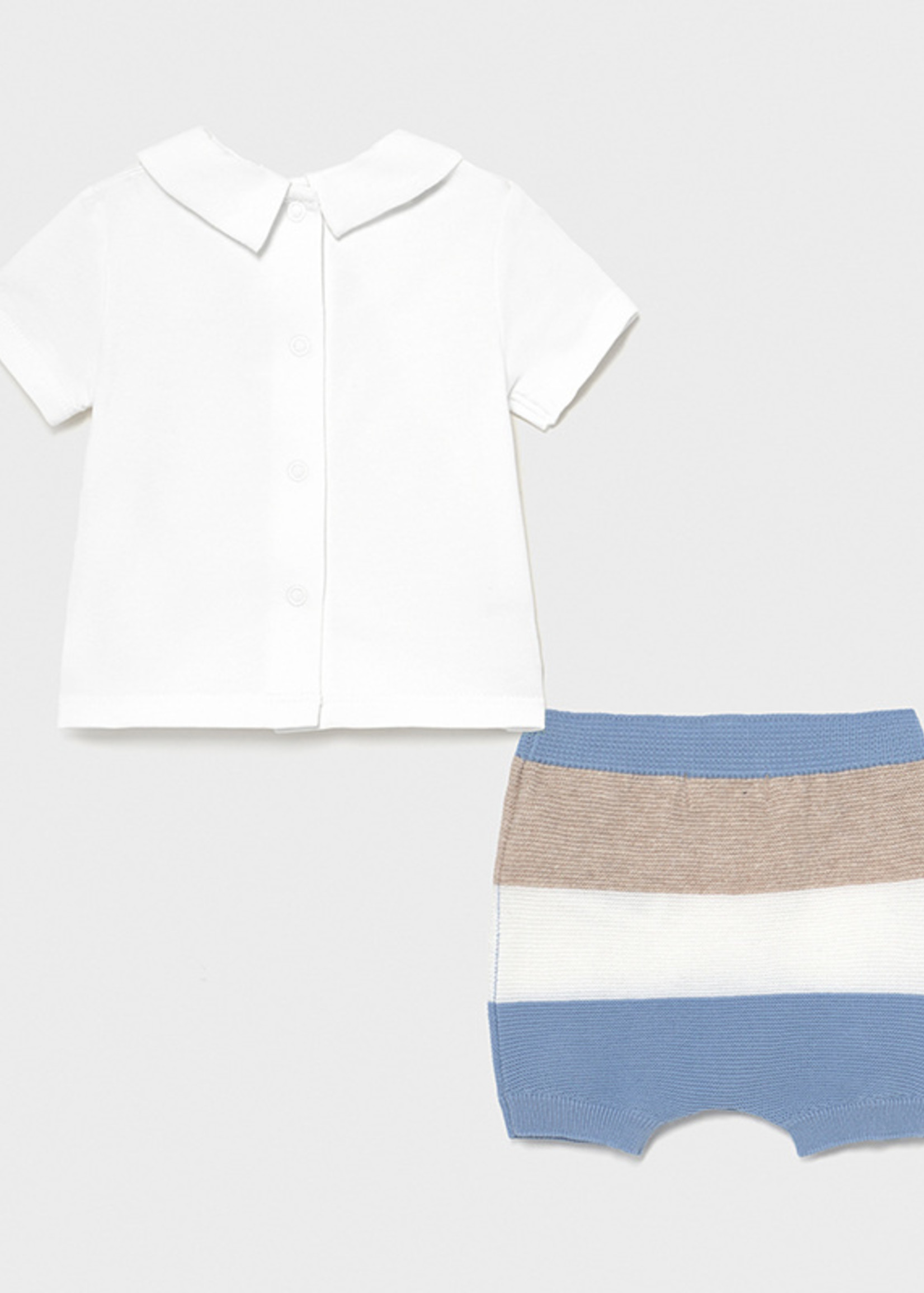 Mayoral Mayoral striped shorts set for newborn boy