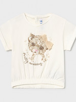 Mayoral Mayoral short sleeved tshirt with leopard
