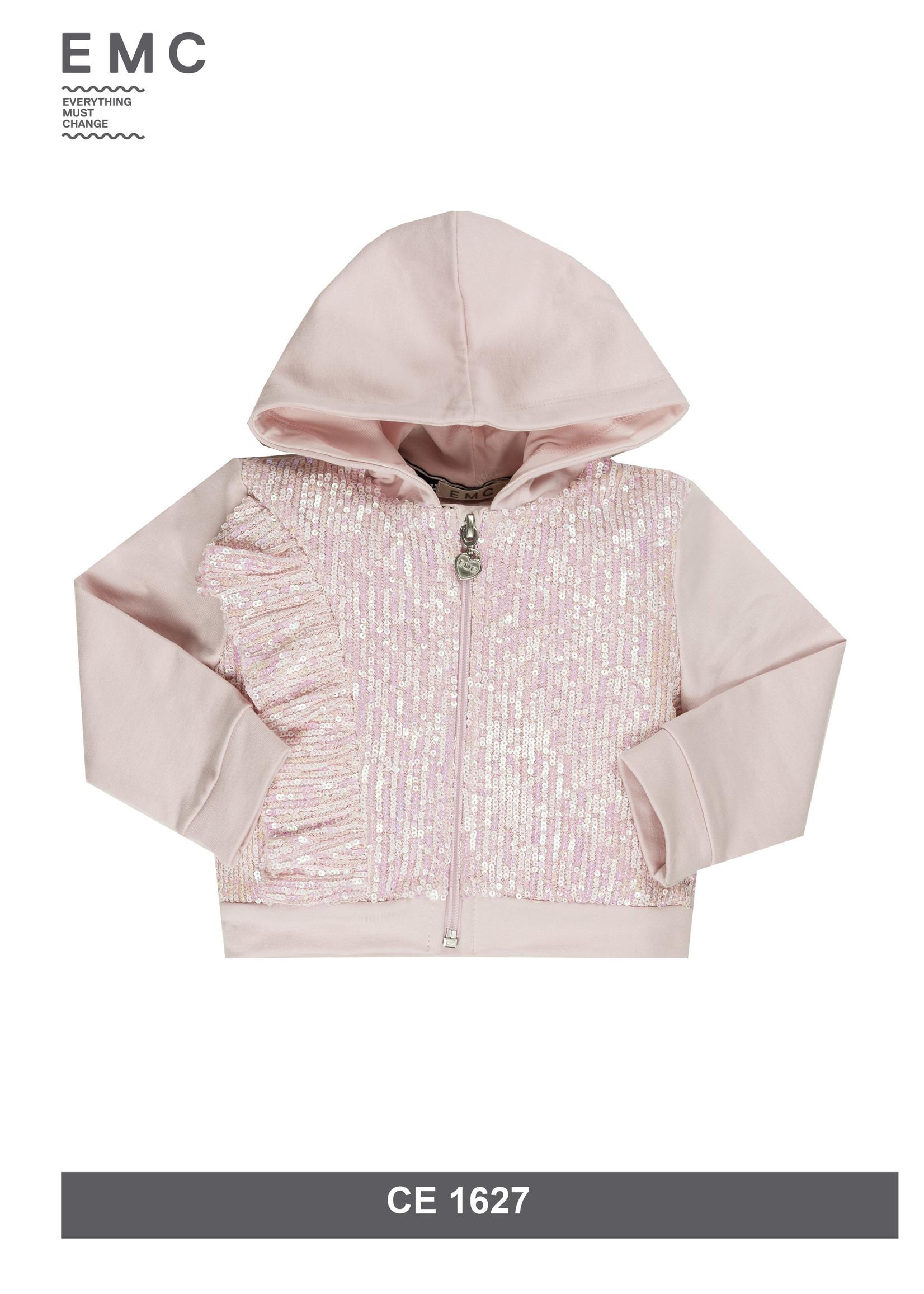 EMC EMC vest roze met pailletjes