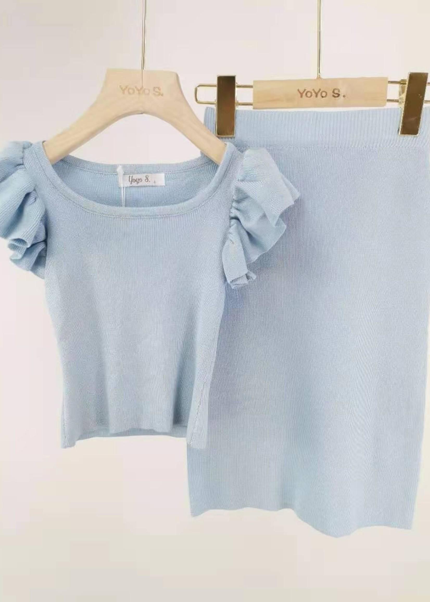 Divanis Divanis long skirt set blue