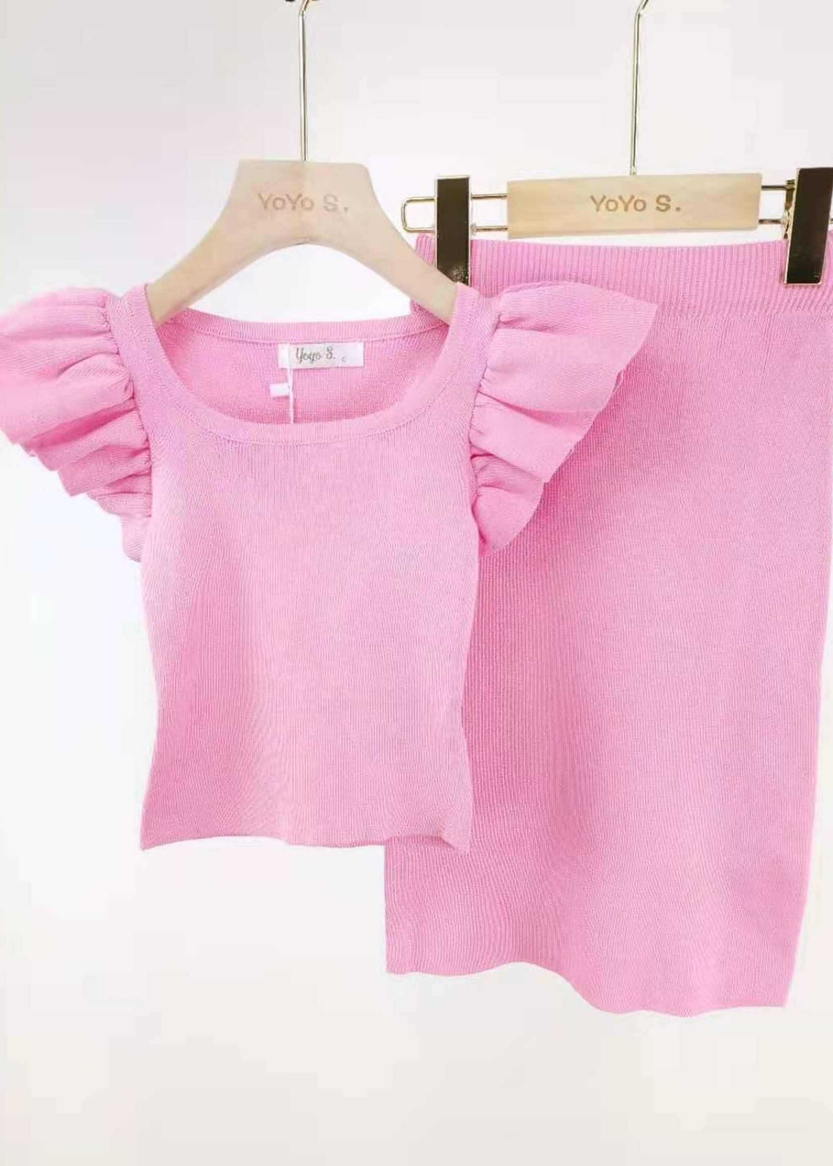 Divanis Divanis long skirt set pink