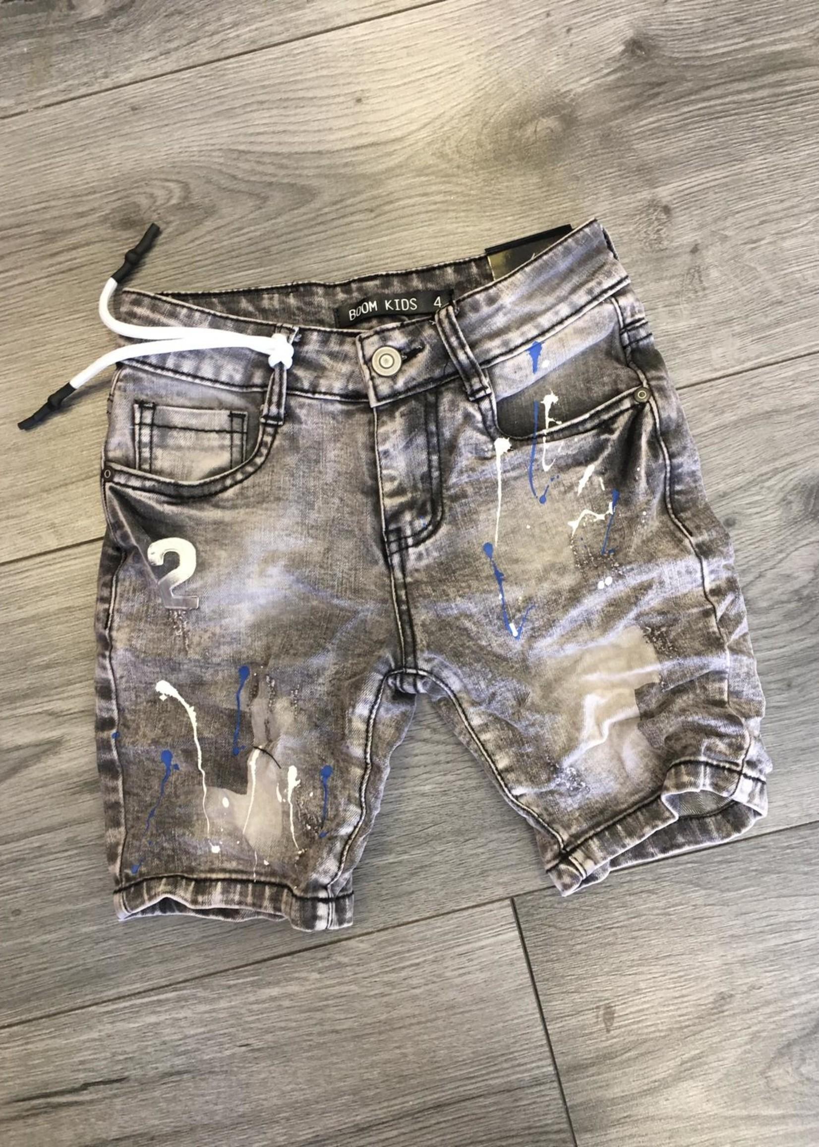 Divanis Divanis short jeans spetters grey