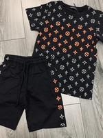 Divanis Divanis look a like lv set zwart oranje
