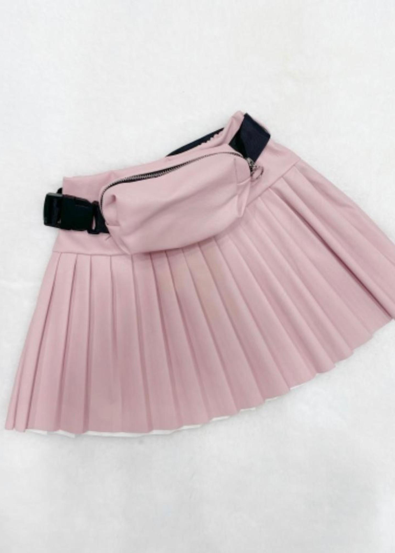 Divanis Divanis leatherskirt pink met tasje