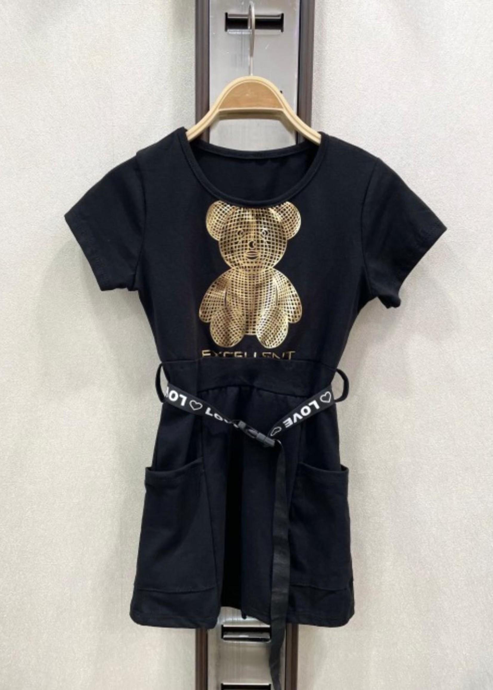Divanis Divanis bear dress black