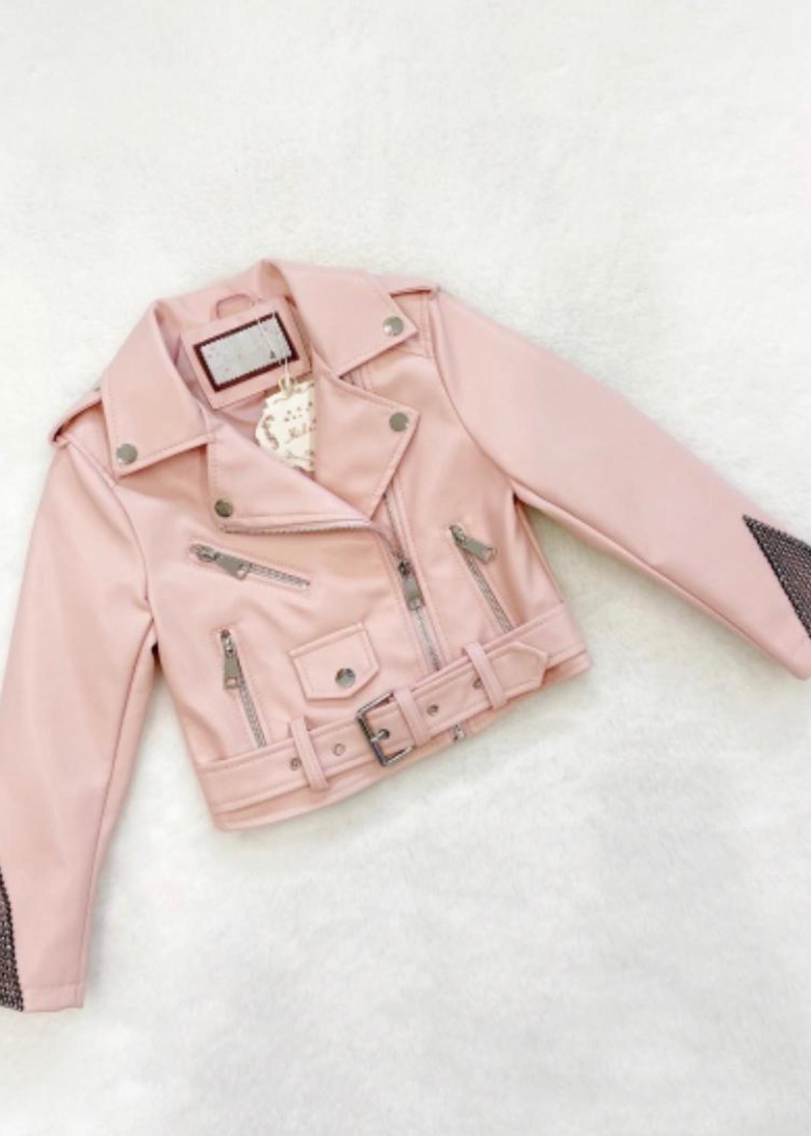 Divanis Divanis leather jacket pink