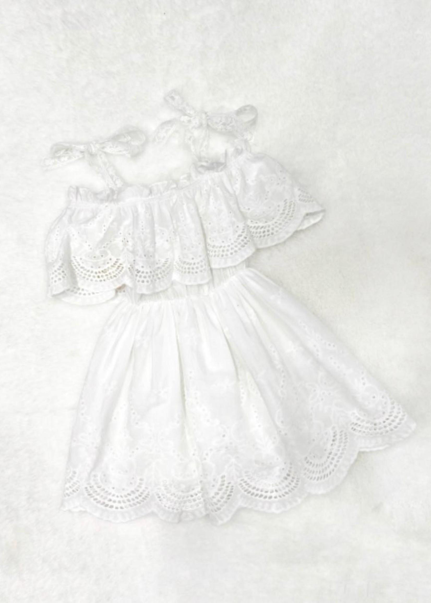 Divanis Divanis roesel dress wit